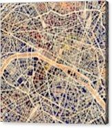 Paris France City Map Acrylic Print