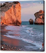 Playing At Aphrodite's Birthplace Acrylic Print