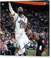 Portland Trail Blazers V Utah Jazz Acrylic Print