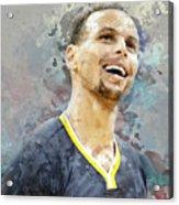 Portrait Of Stephen Curry Acrylic Print
