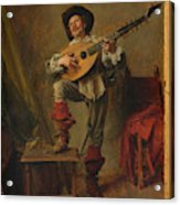 Soldier Playing The Theorbo  Acrylic Print