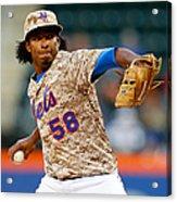 St Louis Cardinals V New York Mets Acrylic Print