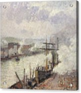 Steamboats In The Port Of Rouen  Acrylic Print