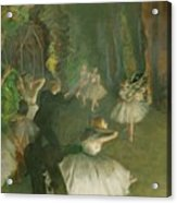 The Rehearsal Of The Ballet Onstage  Acrylic Print