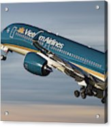 Vietnam Airlines Airbus A350 Acrylic Print