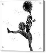 Cheerleader With Pompoms Acrylic Print