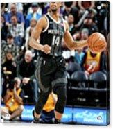 Detroit Pistons V Utah Jazz Acrylic Print