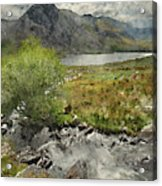 Digital Watercolor Painting Of Stunning Landscape Image Of Count Acrylic Print