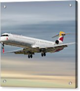 Iberia Regional Bombardier Crj-1000 Acrylic Print