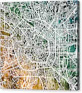 Milan Italy City Map Acrylic Print