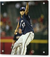 Milwaukee Brewers V Arizona Diamondbacks Acrylic Print