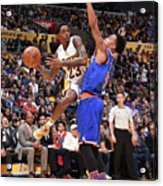 New York Knicks V Los Angeles Lakers Acrylic Print
