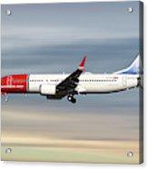 Norwegian Boeing 737 Max 8 Acrylic Print