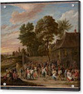 Peasants Dancing And Feasting  Acrylic Print