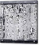 Stained Wood Siding Acrylic Print