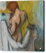 Woman With A Towel  Acrylic Print