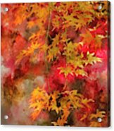 Digital Watercolor Painting Of Beautiful Colorful Vibrant Red An Acrylic Print