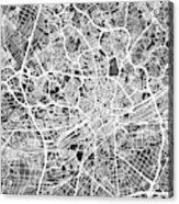 Frankfurt Germany City Map Acrylic Print