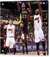 Miami Heat V Los Angeles Lakers Acrylic Print