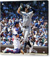 Milwaukee Brewers V Chicago Cubs 6 Acrylic Print