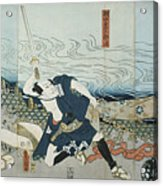 Theatre Scene, 1844. Artist Utagawa Acrylic Print