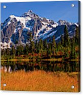 Autumn Colors With Mount Shuksan Acrylic Print