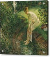 Bather In The Woods  Acrylic Print