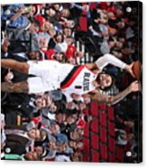 Charlotte Hornets V Portland Trail Acrylic Print