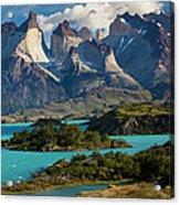 Chile, Torres Del Paine National Park Acrylic Print