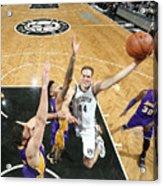 Los Angeles Lakers V Brooklyn Nets Acrylic Print
