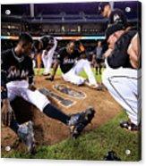 New York Mets V Miami Marlins Acrylic Print