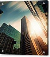 Office Skysraper In The Sun Acrylic Print