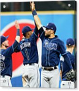 Tampa Bay Rays V Cleveland Indians Acrylic Print