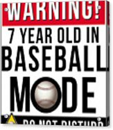 7 Year Old In Baseball Mode Acrylic Print