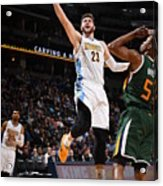 Utah Jazz V Denver Nuggets Acrylic Print