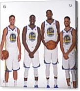 2017-18 Golden State Warriors Media Day Acrylic Print