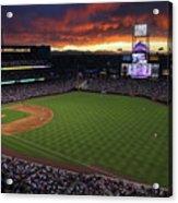Atlanta Braves V Colorado Rockies Acrylic Print