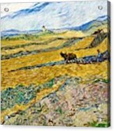 Enclosed Field With Ploughman -  Acrylic Print