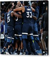 Minnesota Timberwolves V Oklahoma City Acrylic Print