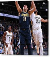 New Orleans Pelicans V Denver Nuggets Acrylic Print