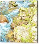 Pocono Mountain Stream, Pennsylvania Acrylic Print