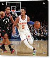 Toronto Raptors V New York Knicks Acrylic Print