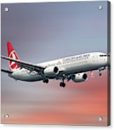 Turkish Airlines Boeing 737-9f2 Acrylic Print