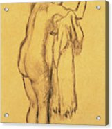 A Bather Drying Herself By E Degas Acrylic Print