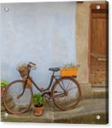 A Bicycle At Number 10 Acrylic Print