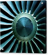 A Close Of Up A Turbine Showing The Acrylic Print
