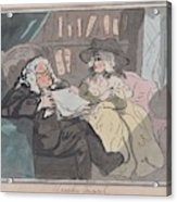 A Counselor's Opinion After He Had Retired From Practice After Thomas Rowlandson British, London 17 Acrylic Print
