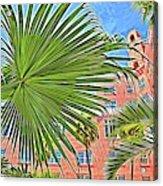 A Don Cesar Palm Frond Acrylic Print