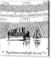 A Gentleman Acrylic Print
