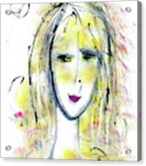 A Girl By The Artist Catalina Lira Acrylic Print